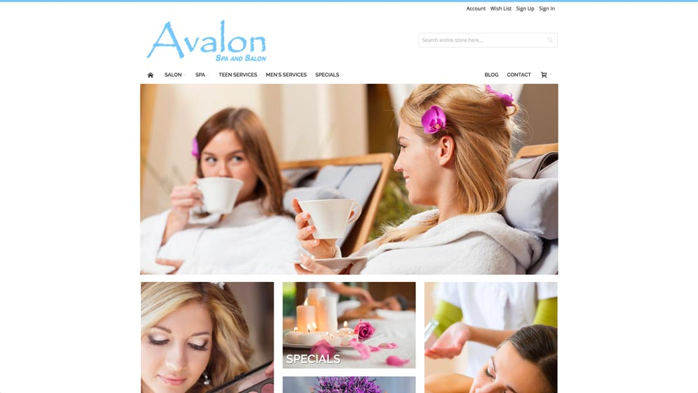 Imagine It Studios Client - Avalon Spa and Salon